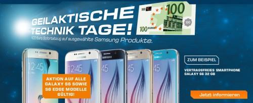 [Saturn] 100€ Rabatt auf ausgewählte Samsung Produkte, z. B. GALAXY Tab S T800 für 349€ - 12% Ersparnis