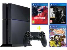 "PlayStation 4 + ""Driveclub"" + ""The Last Of Us"" + ""Little Big Planet 3"" um 399 € - bis zu 16% sparen"