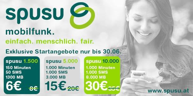 """(Top!) Neuer Mobilfunkanbieter in Österreich: """"Spusu"""" startet mit neuen Kampftarifen"""