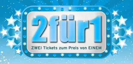[UCI Kinowelt] 2 Tickets zum Preis von 1 - 50% sparen