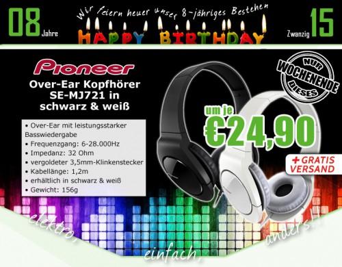 0815.at: Pioneer SE-MJ721K Over-Ear Kopfhörer für 24,90€