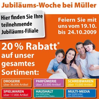20% auf das ganze Sortiment bei Müller - PS3 Slim 120GB für 239€, Wii für 159€, Xbox 360 Elite 120GB für 223€