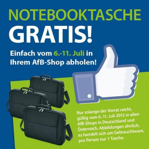 AfB: Gratis Notebooktasche an 2 Standorten in Wien - Nur bis zum 11. Juli