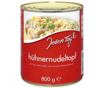 """(Tipp) Jeden Tag """"Hühner-Nudeltopf"""" (6x 800g) um 5,49 €"""