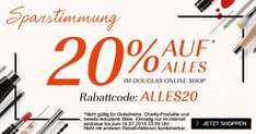 Douglas: 20% Rabatt auf den kompletten Einkauf - Nur heute gültig!
