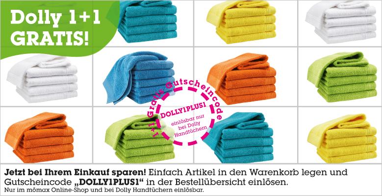 Mömax: 2 Handtücher um 7,95 € - bis zu 75% sparen
