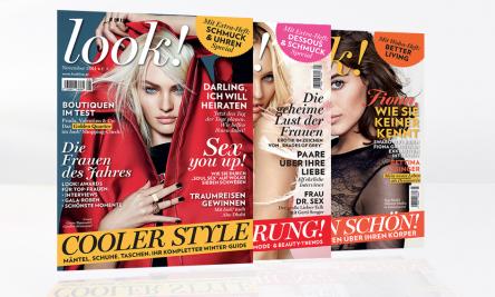 """10 Ausgaben """"Look! Magazin"""" + 10 € Douglas-Gutschein um 14,90 €"""