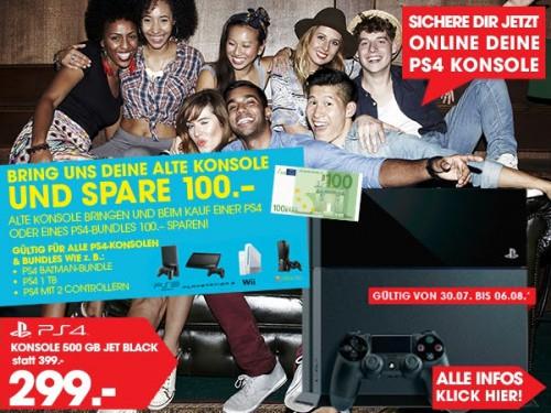 Libro: 100€ Rabatt auf alle PlayStation 4 Konsolen & Bundles - ab dem 30. Juli