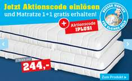 "1+1 Gratis Matratze ""Primatex Silvy"" um 244 € - 50% sparen"