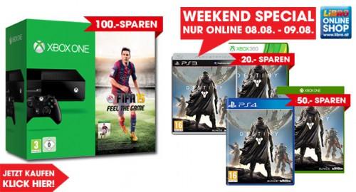 Libro: Destiny für 15,38€ / Xbox One FIFA 15 Bundle für 294€ - Nur bis zum 9. August