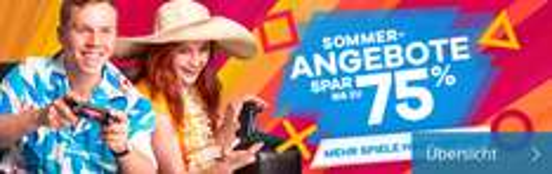 PlayStation Store Summer Sale mit bis zu 75% Rabatt - Nur bis zum 26. August