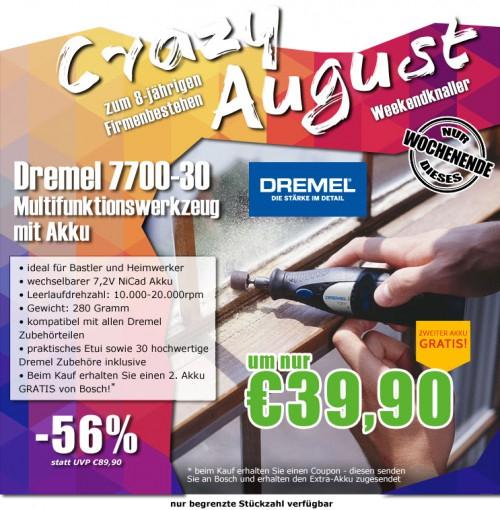 0815.at: Dremel 7700-30 Akku-Multifunktionswerkzeug für 44,89€