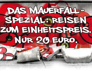Mauerfall-Spezial: Für 20€ mit der Deutschen Bahn durch ganz Deutschland *UPDATE*