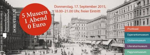 5 Museen in Wien - 1 Abend - 0 Euro - Nur am 17. September zwischen 18:00 - 21:00 Uhr