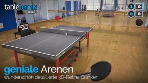 """""""Table Tennis Touch"""" für iOS um 0,99 € - statt 3,99 € - 75% sparen"""
