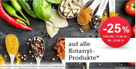 [Spar] -25% auf alle Kotanyi Produkte