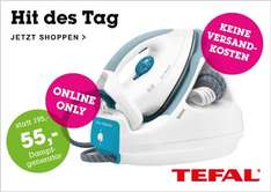 Mömax: Tefal GV5225 Dampfbügelstation für 37,95€ - Ersparnis von 66%