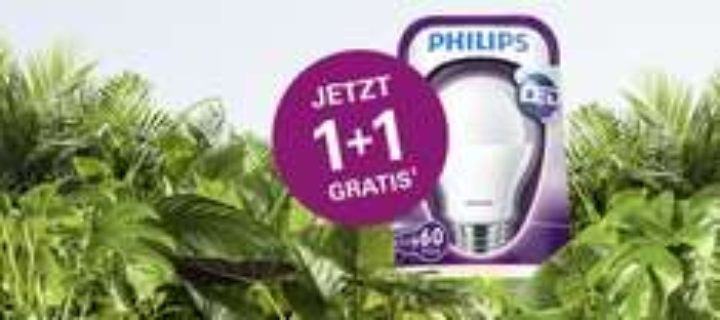 2x Philips LED (9,5 Watt) Energiesparlampen um 6,99 € - 1+1 Gratis Aktion - bis 7.10.2015