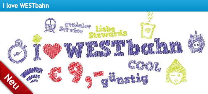 Westbahn: 9 Züge an 9 Tagen um 9 € - 22.9.- 8.10.2015