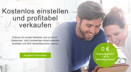 [ebay] 0€ Einstellgebühr & 50% Rabatt auf die Verkaufsprovision!