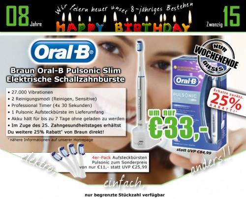 0815.at: Oral-B Pulsonic Slim elektrische Zahnbürste für 29,74€