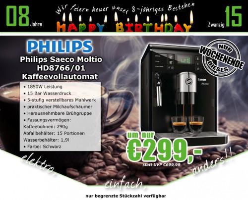 0815.at: Philips Saeco HD8766/01 Moltio Espresso/ Kaffee-Vollautomat für 299€