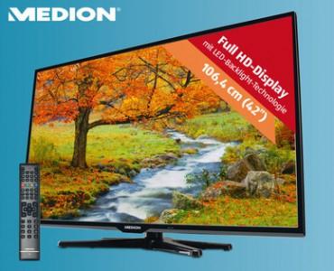 MEDION® LIFE® P17108 (MD 30978) Smart-TV mit DVB-T2 und 3 Jahren Garantie für 359€ - 23% Ersparnis