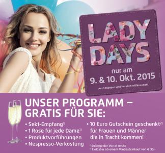 [KIKA - Lady Days] 50€ Gutschein (MEW 150€), 10€ Gutschein (MEW 30€), uvm.