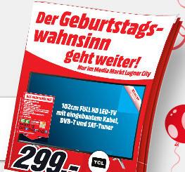 Media Markt Lugner City / Wr. Neustadt Geburtstag mit neuen Angeboten bis zum 24. Oktober