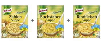 Amazon: Knorr Suppen um 0,29 €/Stück inkl Versand - bis zu 78% sparen