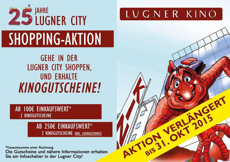 2 Gratis Lugner-Kinotickets für euren Einkauf in der Lugner City