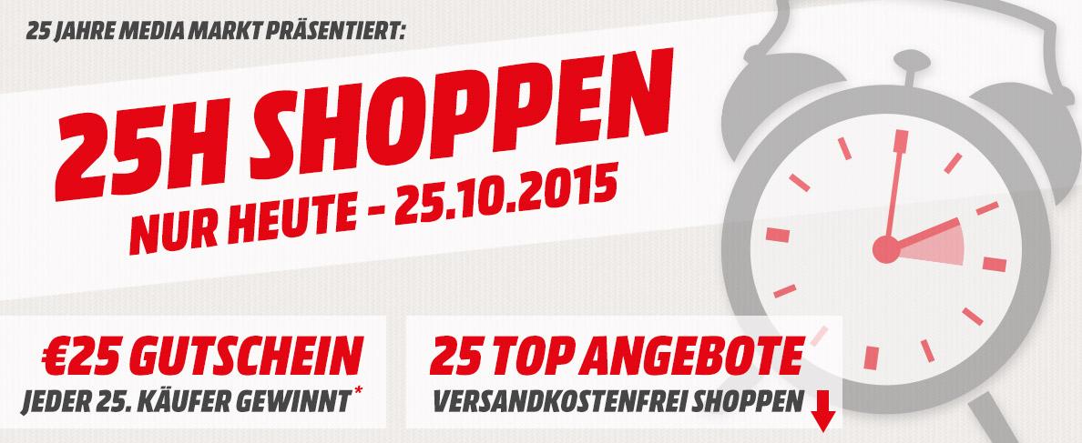Media Markt: 25 Stunden Shoppen mit 25 Angeboten - u.a. mit: Brother MFC-J870DW Farb-Tinten Drucker für 101€