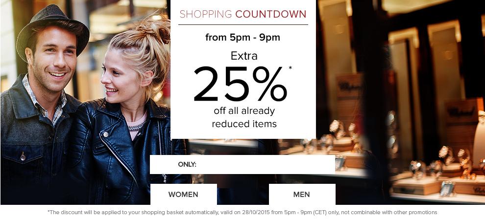 -25% auf reduzierte Artikel, abgezogen wird aber 43,7 %