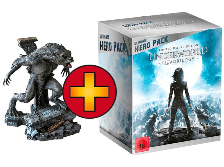 Saturn Tagesangebote Underworld 1-4 (Ultimate Hero Pack + Figur) Action Blu-ray  für 49 €
