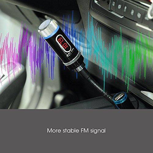 Audio Bluetooth FM Transmitter und Freisprechen mit USB Port bei amazon
