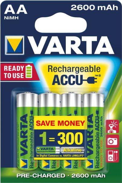 [Amazon.de] 40x Varta Professional Mignon AA Akku (1,2V, 2600mAh) für 46,93€ (PVG: ~100€)