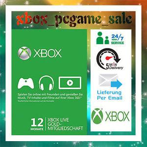 12 Monate Xbox Live Gold Mitglledschaft für 26,21€