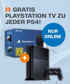 Gratis Playstation TV beim Kauf einer PS4 im Onlineshop