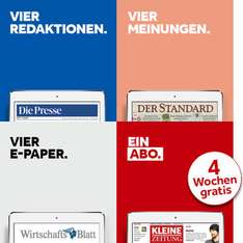 (Info) ePaper.at: Flatrate-Abonnement für Tageszeitungen in Österreich