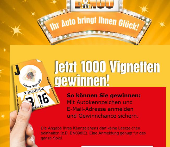 Gewinnspiel: 1 von 1000 Vignetten + 4 Wochen Gratis Krone-Abo