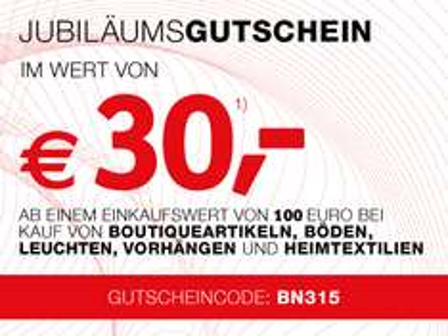 30€ XXXLutz Gutschein