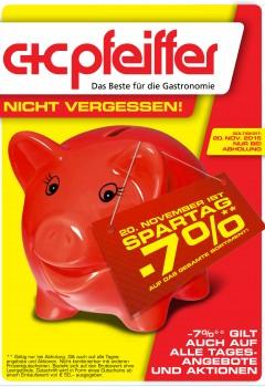 C+C Pfeiffer Abholmarkt - 7% Gutschein auf Alles - nur am 20.11.2015