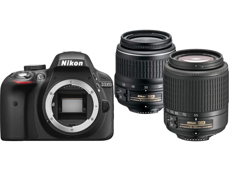 [Media Markt] 8 bis 8 Nacht: NIKON D3300 + AF-S DX 18-55 II + AF-S DX 55-200 für 499€