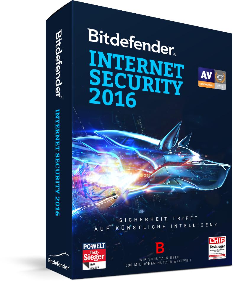 Bitdefender Internet Security 2016 - 1 Jahr Lizenz gratis
