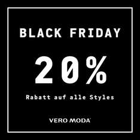 Jack & Jones / Vero Moda: 20% Rabatt auf den kompletten Einkauf am Black Friday (27. November)