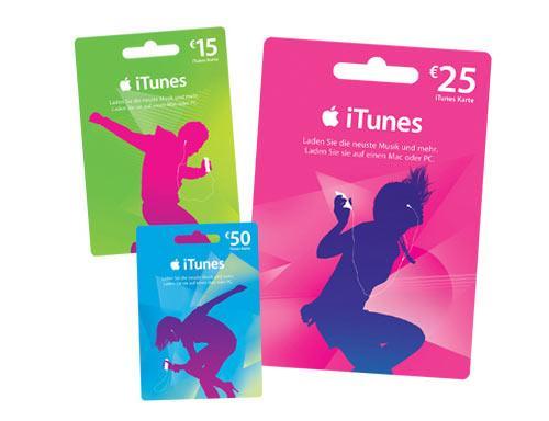 Billa: 15% Rabatt auf iTunes Karten - vom 19. bis zum 25. November