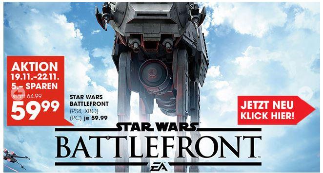 Star Wars: Battlefront für €53,99 (PS4/XBONE)