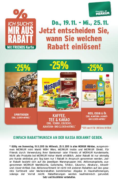 Lebensmittelhandel Angebotsübersicht 19.11.2015 - 25.11.2015