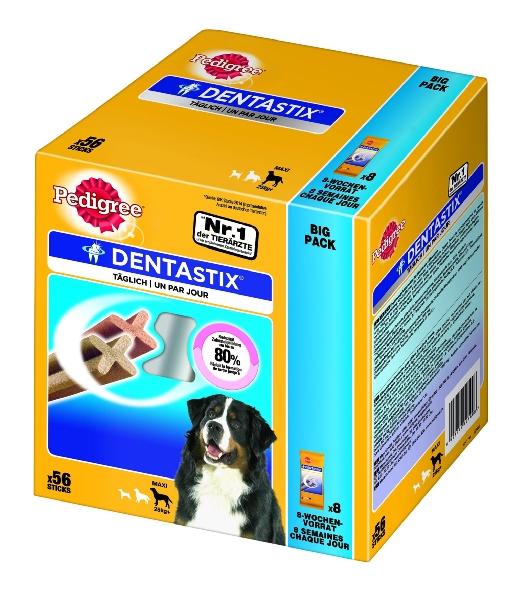 Amazon  Pedigree DentaStix Hundesnack für große Hunde, 1 Packung je 56 Stück um 7,99 € ( Preisvergleich 14,90 € )