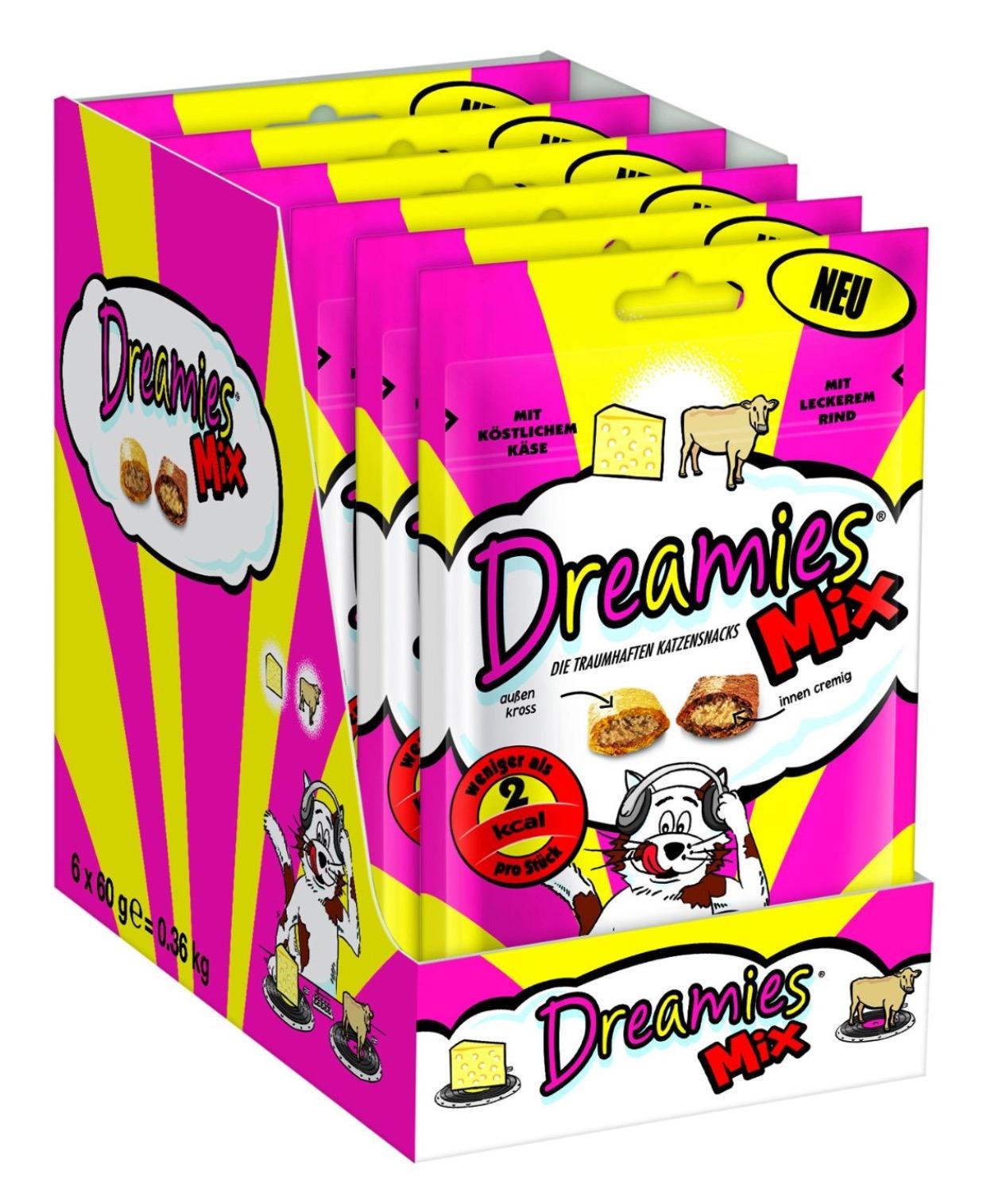 Amazon Drei ausgewählte Snacks von Dreamies kaufen, nur zwei bezahlen um 13,98 € (Preisvergleich 35,10 € )
